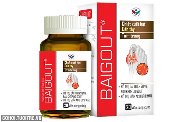 Hạt Cần tây trong Baigout - vũ khí chiến thắng bệnh Gout lâu năm
