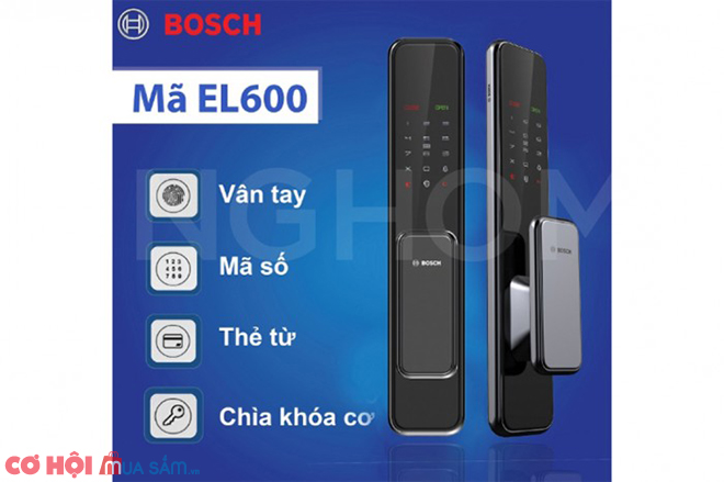 Siêu khuyến mãi khóa điện tử Bosch EL600