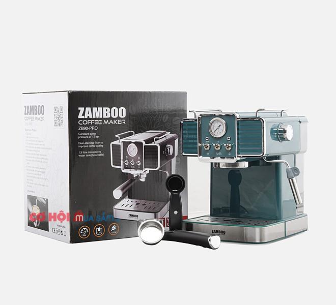 Máy pha cà phê Espresso Zamboo ZB90-PRO (đen, xanh)