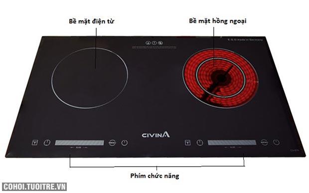 Bếp hồng ngoại điện từ Civina CV-676