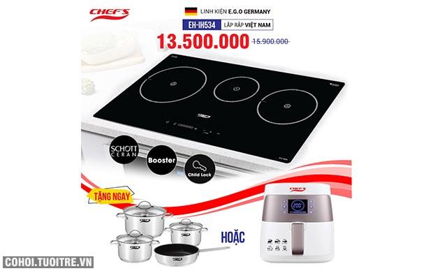 Bếp từ 3 lò Chefs cảm ứng CHEFS EH-IH534
