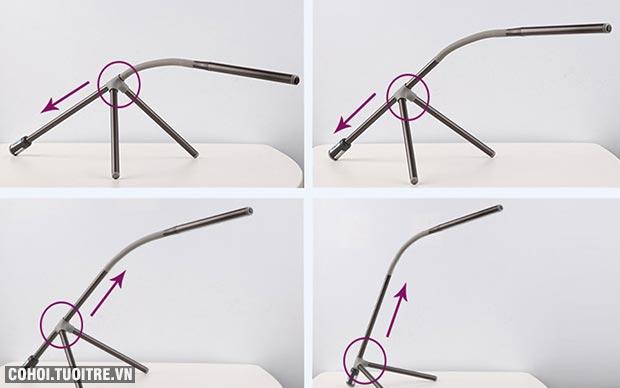 Đèn bàn học chống cận, đèn bàn LED Philips Geometry 66046