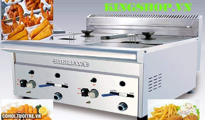 Bếp chiên nhúng gas đôi BERJAYA GDF11D