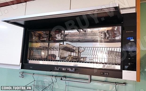 Máy sấy chén tự động loại treo tủ bếp SAKURA Q-7583XL