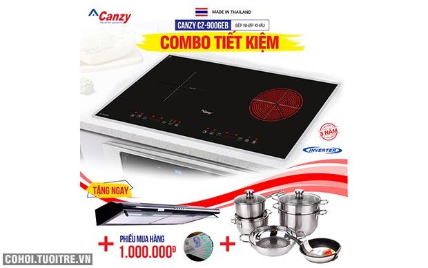 Bếp từ đôi hồng ngoại cảm ứng Canzy CZ-900GEB