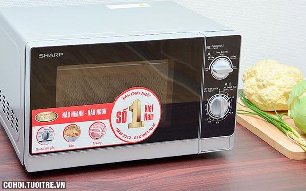 Xả kho lò vi sóng Sharp R-205VN(S) giá từ 1,25 triệu