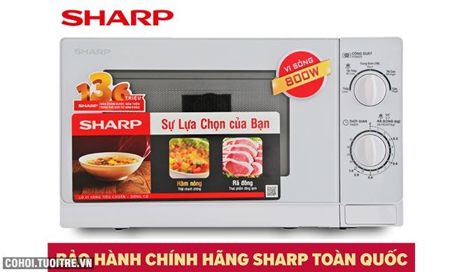 Xả kho lò viba Sharp R-201VN-W 20 lít nấu, hâm, rã đông