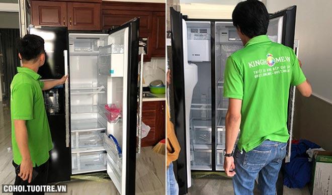Xả kho tủ lạnh Side By Side Bosch KAD90VB20 chính hãng
