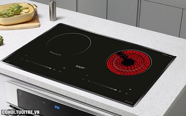 Bếp hồng ngoại điện từ đôi Kaff KF-FL101IC