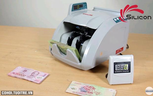Máy đếm tiền phát hiện tiền siêu giả Silicon MC-8600