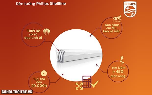 Đèn tường LED Philips Shellline 31172 20W 6500K (ánh sáng trắng)