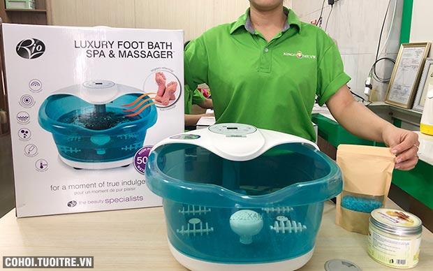 Bồn ngâm chân massage hồng ngoại Rio FTBH5