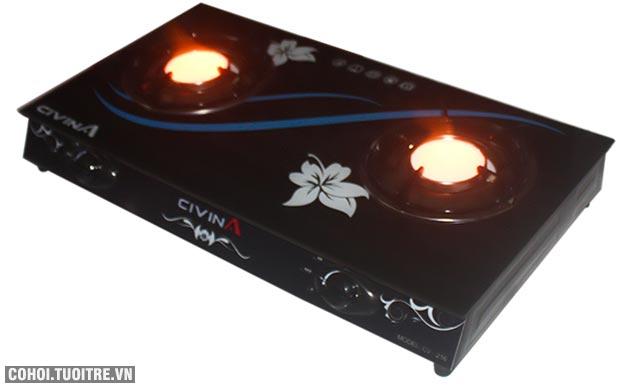 Bếp gas dương hồng ngoại Civina CV 216