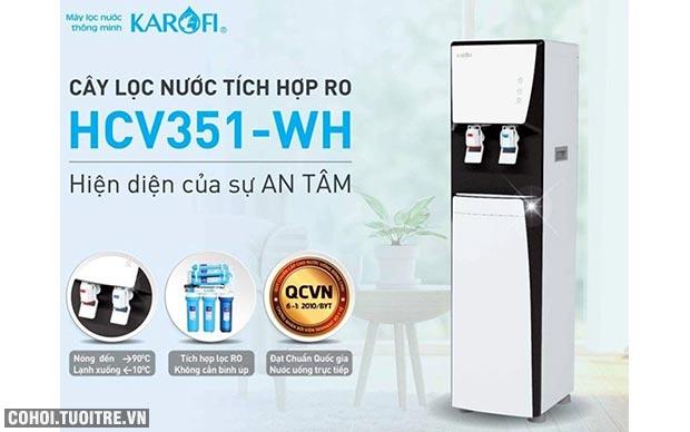 Máy lọc nước RO nóng lạnh 2 vòi KAROFI HCV351-WH