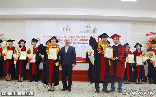 UEF đạt chuẩn kiểm định chất lượng giáo dục