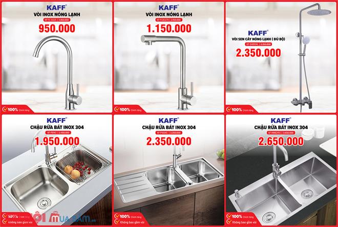 Vòi rửa bát inox 304 nóng lạnh KAFF KF-FC8602