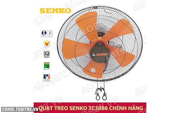 Quạt treo tường 5 cánh Senko TC1886, 2 dây điều khiển