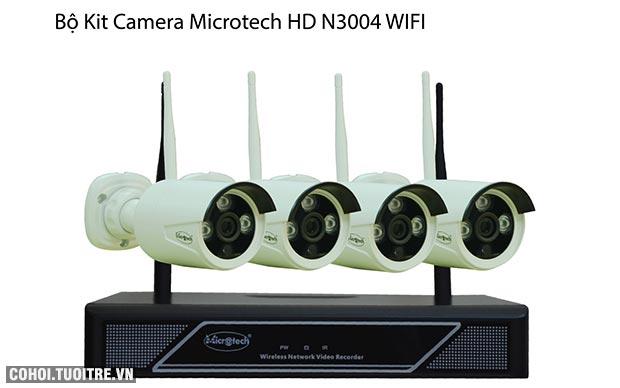 Giới thiệu bộ camera Microtech kit HD N3004 wifi