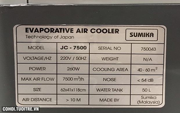 Máy làm mát Sumika JC-7500