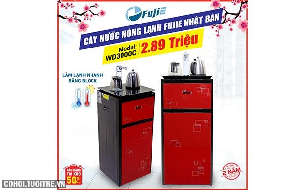 Cây nước nóng lạnh kết hợp bàn pha trà, cafe FujiE WD3000C