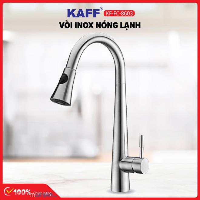 Vòi rửa bát inox 304 nóng lạnh KAFF KF-FC8603