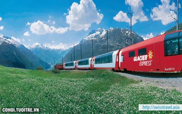 Khám phá Thụy Sĩ trên chuyến tàu Glacier Express