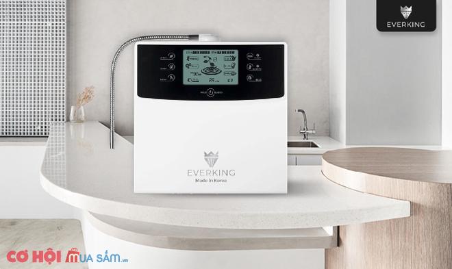 30 ngày dùng thử miễn phí máy lọc nước điện giải Everking, made in Korea