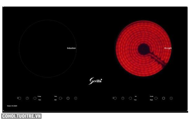 Bếp điện từ đôi hồng ngoại cảm ứng Sevilla SV-202IH