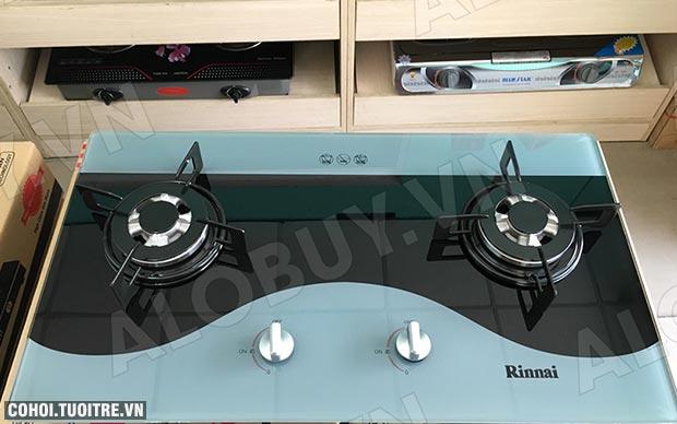 Bếp gas âm Rinnai RVB-212BG(CW), đầu hâm ngắt gas tự động