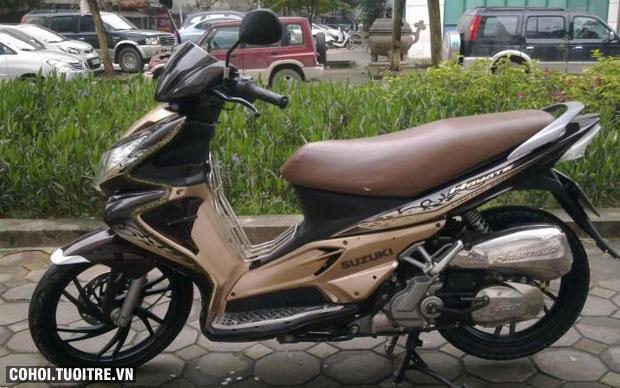 Xe Suzuki Hayate 125cc màu nâu BSTP