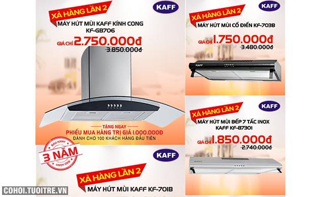 Bếp điện từ KAFF nhập khẩu tặng trọn bộ nhà bếp