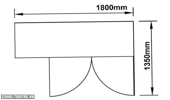 Tủ mát bàn 2 cánh Berjaya BS 2DC6/Z