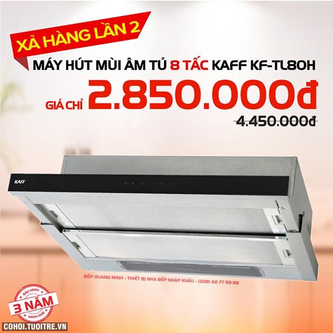 Xả kho máy hút mùi âm tủ 8 tấc KAFF KF-TL80H giá 2.850.000đ