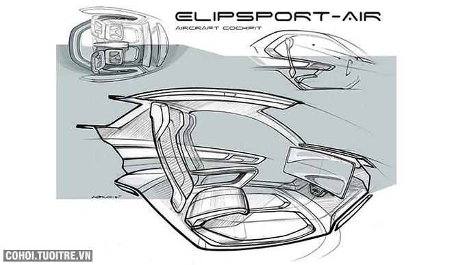 Tập đoàn Elip muốn chế tạo Elipsport-Air - Máy bay cá nhân của người Việt