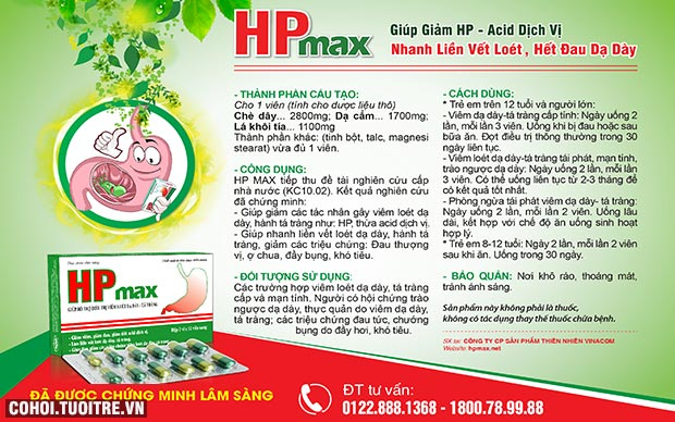 Bí quyết diệt khuẩn HP, trị viêm dạ dày mãn tính
