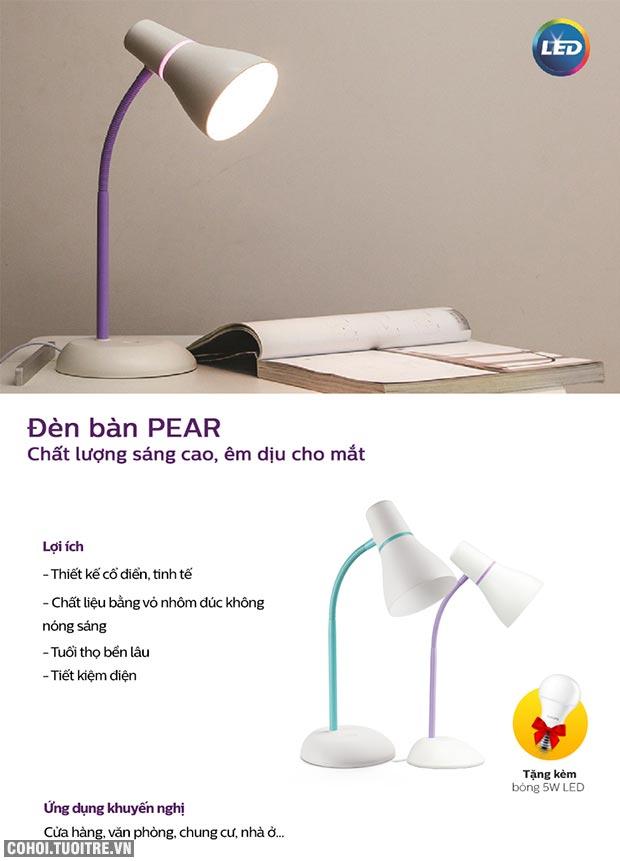 Đèn bàn, đèn học sinh chống cận LED Philips Pear 71567