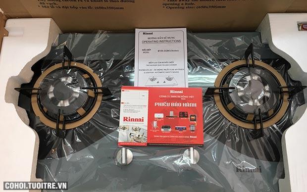 Bếp gas âm Rinnai RVB-212BG(CW) giá đại lý phân phối