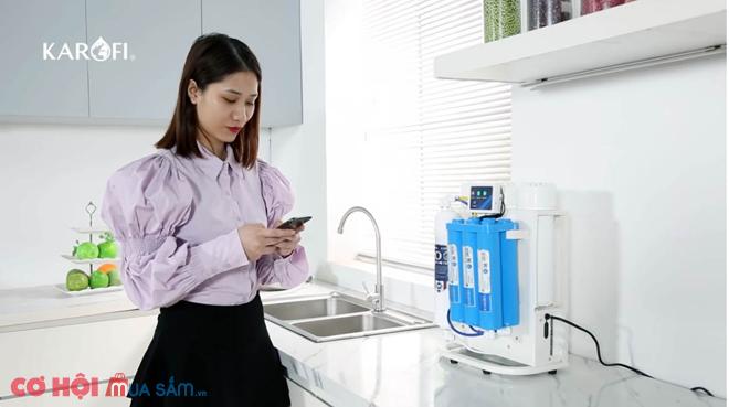 Máy lọc nước RO để gầm, không tủ KAROFI KAQ-U95 (10 cấp lọc)