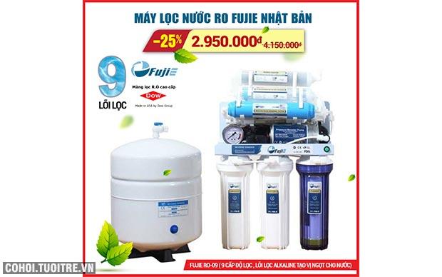 Máy lọc nước RO FujiE mở bán khuyến mãi lần 2