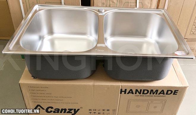 Xả kho bồn rửa chén bát Canzy CZ-8248 chính hãng