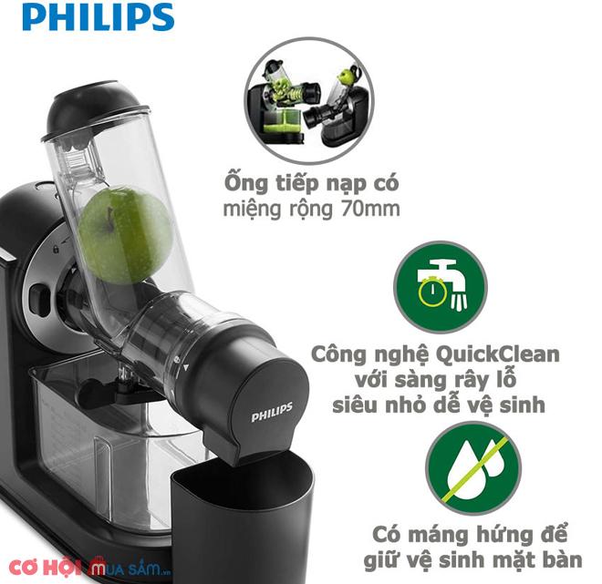 Đánh giá chi tiết máy ép chậm Philips HR1889