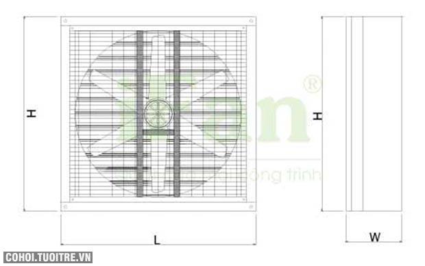 Quạt thông gió khung vuông lá sách Ifan IAF/A