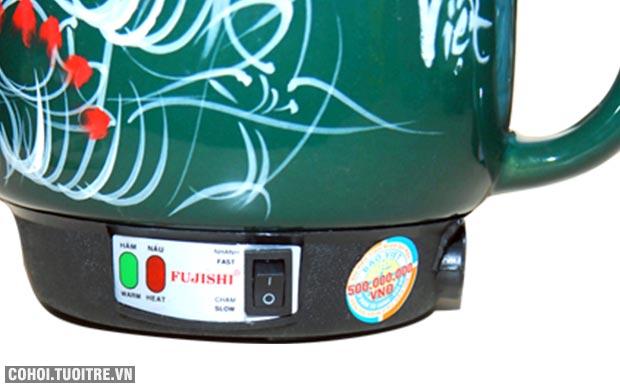 Ấm sắc thuốc bắc bằng điện Fujishi 3.2L màu xanh lục