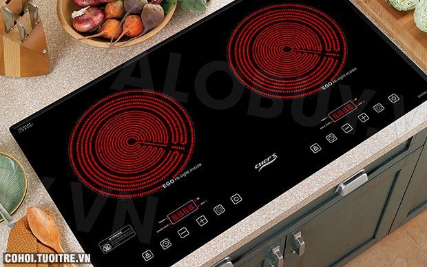 Bếp hồng ngoại CHEFS 2 lò cảm ứng EH-DHL321