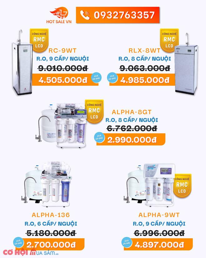 Máy lọc nước ROBOT, lợ nhiễm mặn, công nghệ RMC - LCD