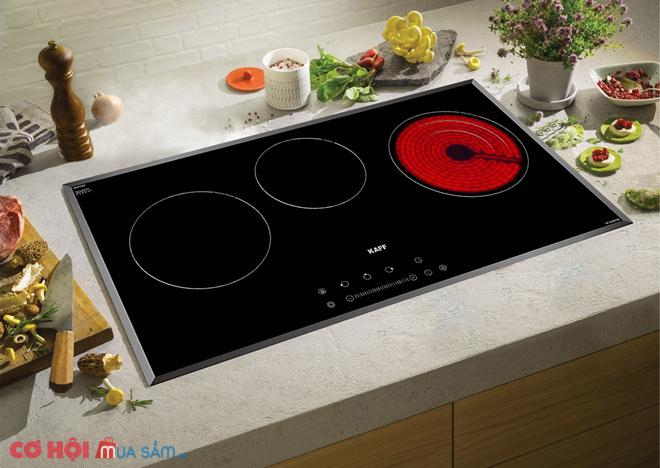 Bếp ba hồng ngoại điện từ Kaff KF-IC5801SB