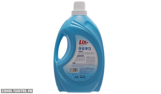 Nước xả vải Lix Soft hương sớm mai 3.8L khuyến mãi 85 ngàn