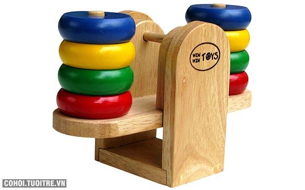Đồ chơi bằng gỗ cân bập bênh Winwintoys 61072