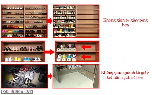 Kệ để giày tiết kiệm diện tích Tashuan TS-5138