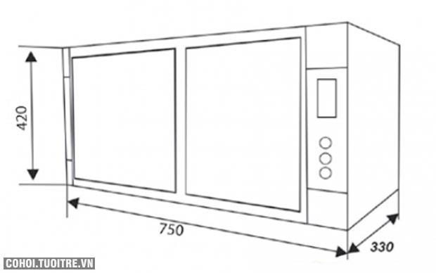 Máy rửa chén dĩa tự động Canzy CZ 86RB